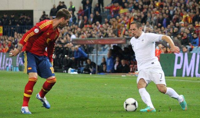 Ramos Ribéry España Francia