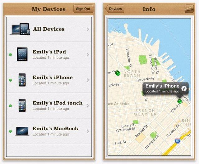 Aplicación Buscar mi iPhone