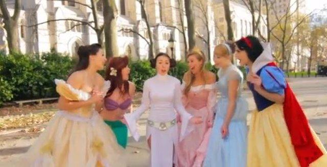 Princesas Disney y princesa Leia
