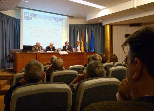Conferencia del rector de la UC, José Carlos Gómez Sal
