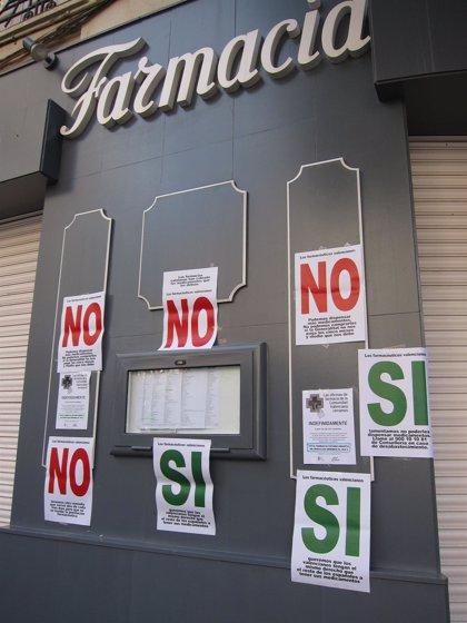 Farmacéuticos se manifiestan el viernes en Valencia para reclamar 450 millones a la Generalitat