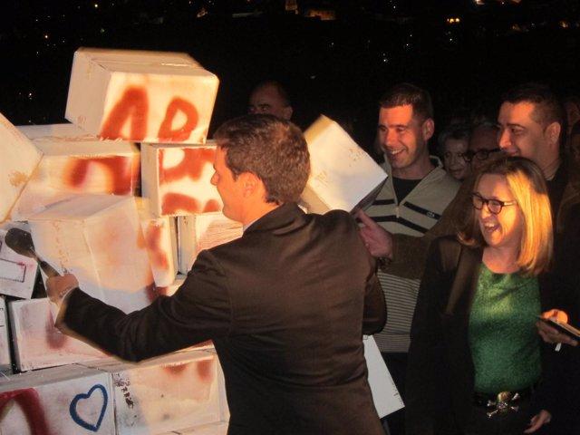 Albert Rivera y Carmen de Rivera (C's) abren la campaña catalana 2012