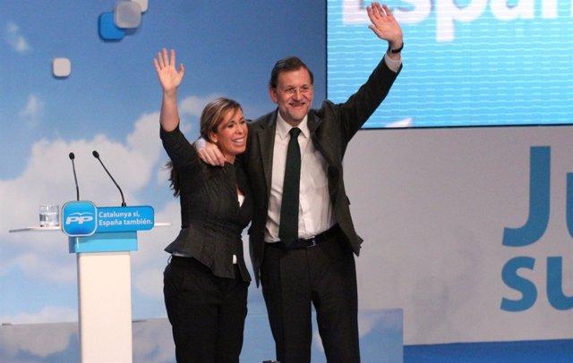 Alícia Sánchez Camacho y Mariano Rajoy (PP)