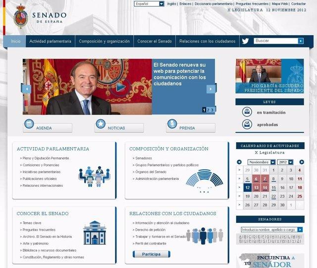 Página web del Senado
