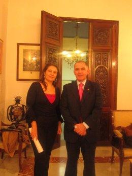 La delegada del Gobierno en Andalucía  y el subdelegado del Gobierno en Granada