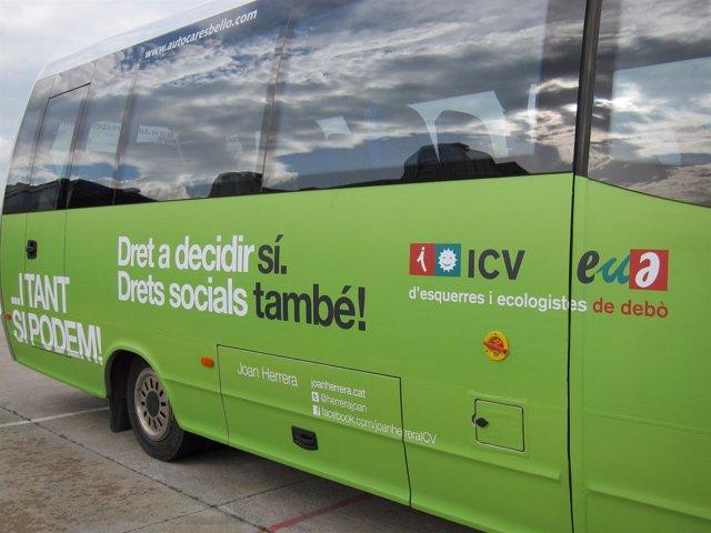 Autobús de campaña de ICV-EUiA