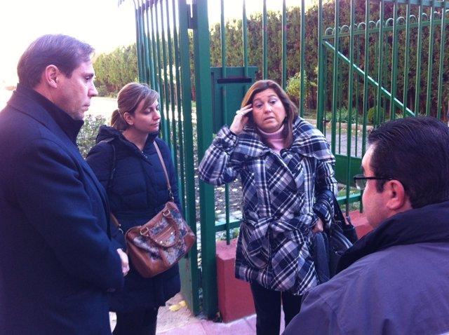 Visita del Grupo Municipal Socialista al CEIP Antonio Machado