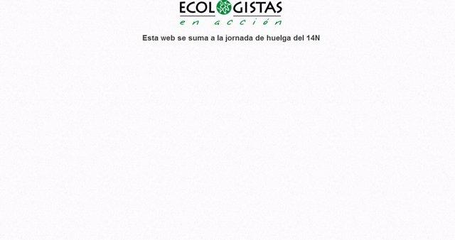 Página web de Ecologistas en Acción el 14N