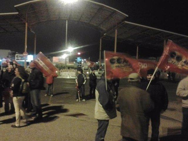 Piquete Informativo En Mercavalencia En La Huelga General Del 14N