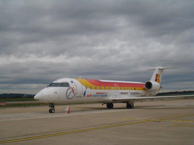 Avión de Air Nostrum en Gironab