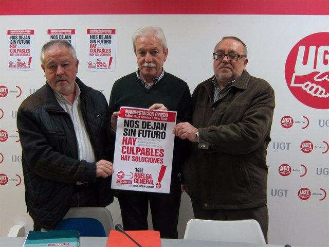 Antonio Pino, Justo Rodríguez Braga Y Jorge Gallego