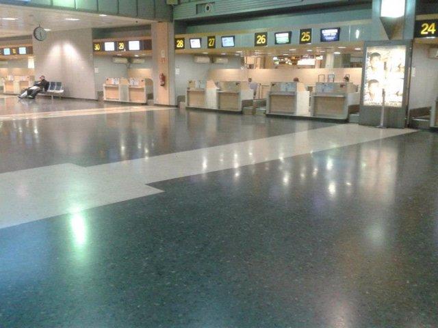 Imagen Del Aeropuerto De Valencia Facilitada Por CCOO PV.