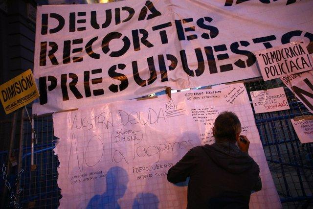 Manifestación del 25S cerca del Congreso y Neptuno