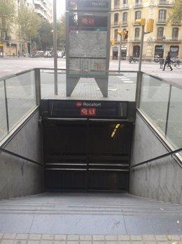 Estación de Metro cerrada tras los servicios mínimos