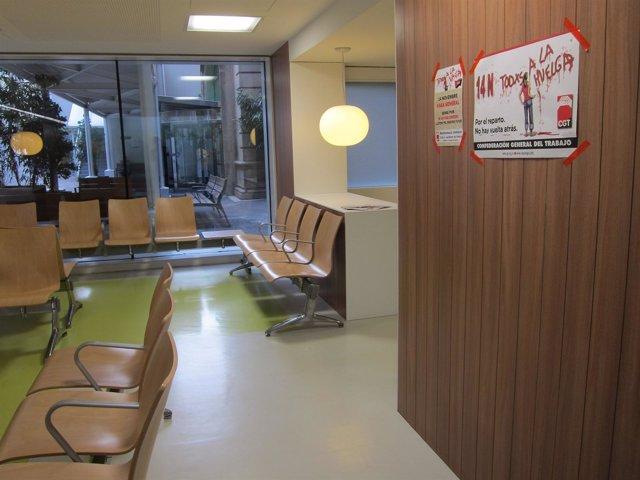 Sala de urgencias del Hospital Clínic de Barcelona durante la huelga general