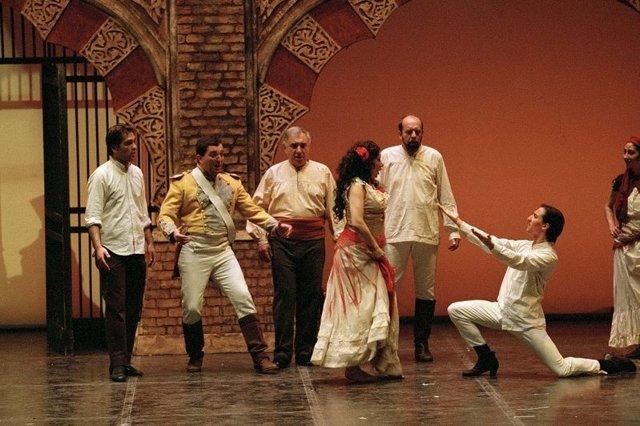 Imagen de la representación de 'Carmen'