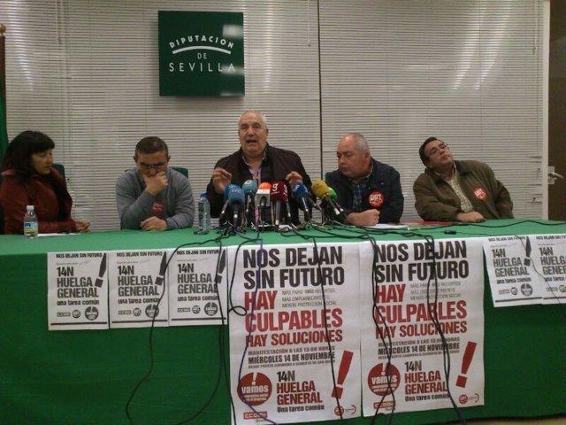 Francisco Carbonero y Manuel Pastrana, en rueda de prensa por el 14N