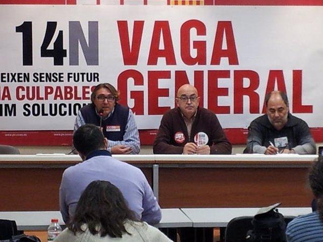 Rueda De Prensa De Sindicatos Para Ofrecer Datos De Seguimiento De Huelga