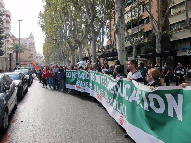 El piquete en la avenida Alfonso X El Sabio