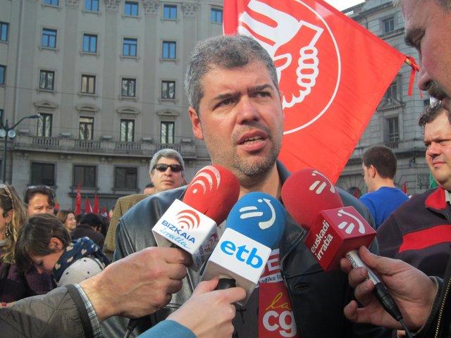 El secretario general de CC.OO. Euskadi, Unai Sordo.