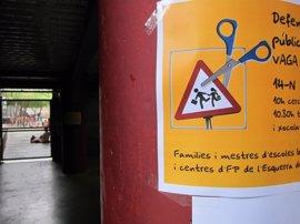 Gran parte de los alumnos de escuelas e institutos catalanes no han ido a clase