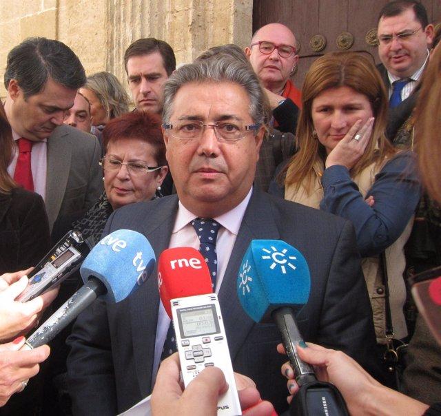 Juan Ignacio Zoido, hoy ante los medios