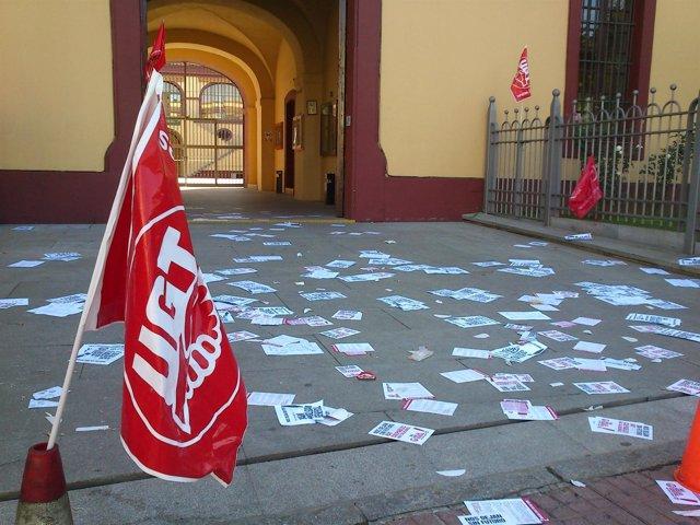 Escasa afluencia de trabajadores a las instalaciones de la Diputación.