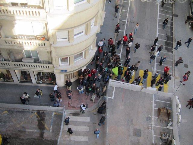 Piquete en Santander
