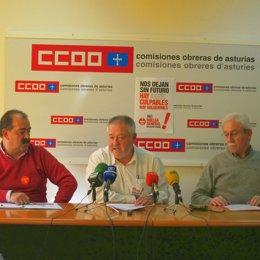 Secretarios Generales De USO, CCOO Y UGT De Asturias
