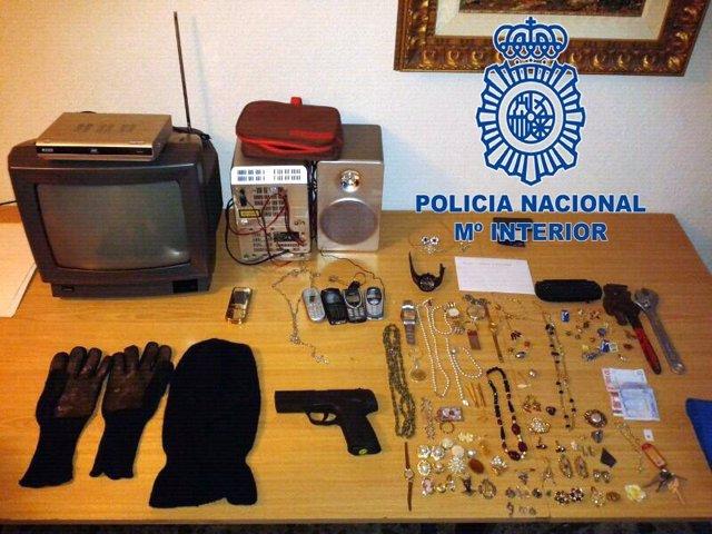 Desarticulado un grupo organizado dedicado al robo en viviendas en Murcia