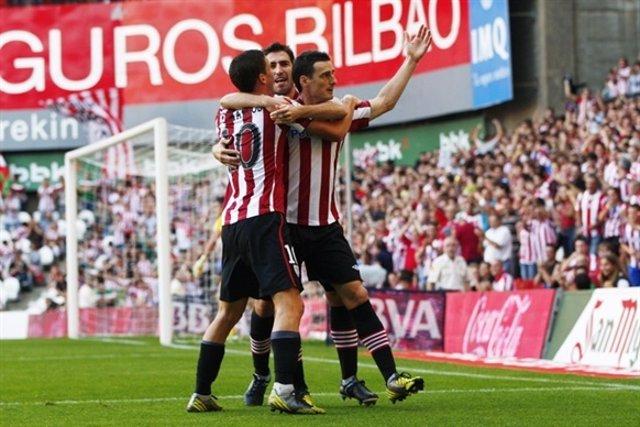 De Marcos,Aduriz,Igor Martínez Atletico Club Bilbao