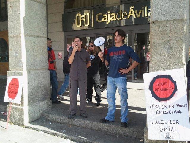 Manifestantes en Ávila