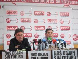 """CCOO y UGT, convencidos de que la incidencia en Extremadura está siendo """"mayor"""" que en otras ocasiones"""