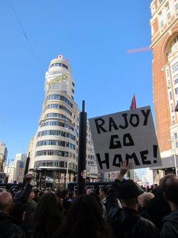 Huelguistas en Callao