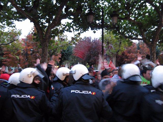 Carga policial en Logroño