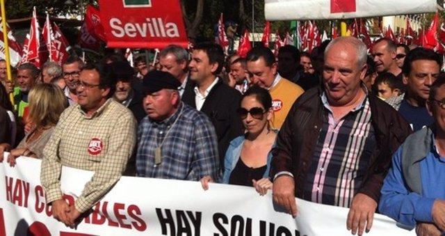 Imagen de la manifestación, este miércoles