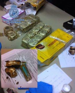 Policía Se Inauta De Droga Oculta En Cartone Sde Vino Y Alfajores