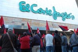 """Los centros de El Cortés Ingles abren """"con normalidad y sin incidentes"""" pese a los piquetes"""
