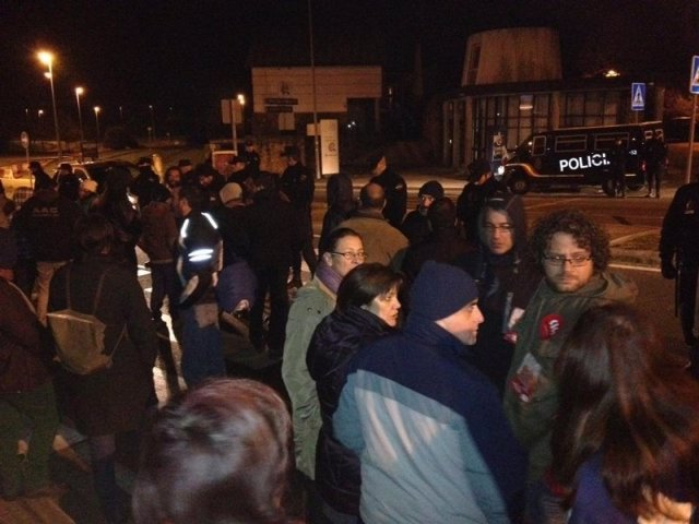 Un piquete en Galicia en la huelga del 14-N