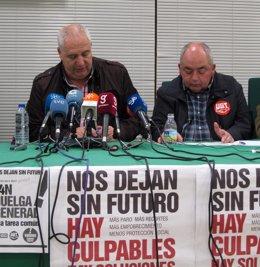Francisco Carbonero y Manuel Pastrana, hoy en rueda de prensa.