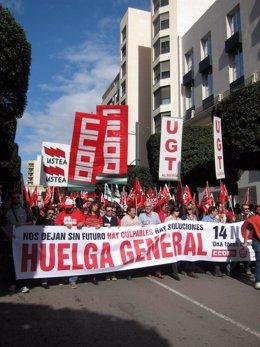 Manifestación del 14N en Almería