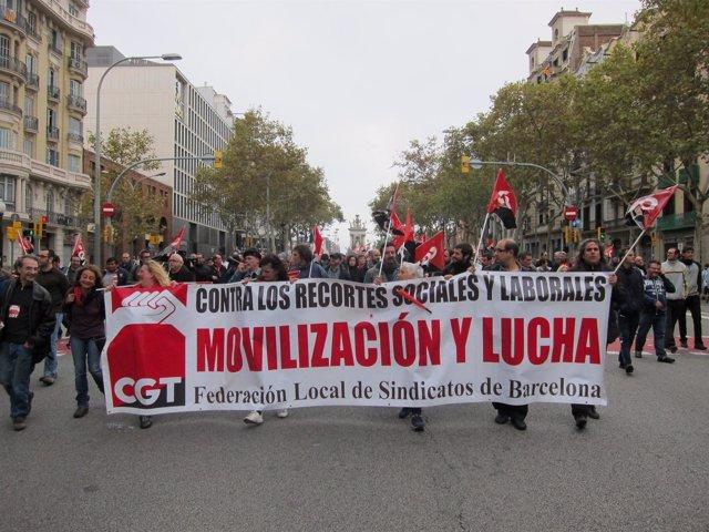 Manifestación de la CGT