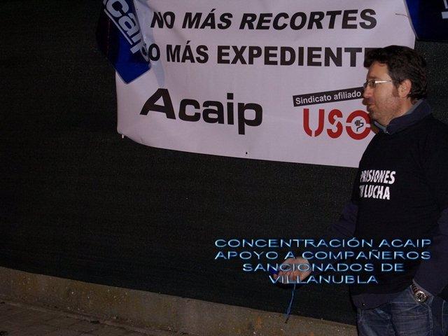 Concentración de Acaip en el Centro Penitenciario de Valladolid.