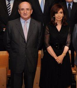 Brufau (Repsol) con Cristina Fernández de Kirchner