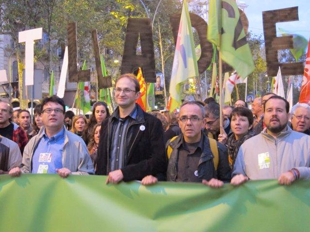 J.J.Nuet, J.Herrera, J.Coscubiela, J.Mena (ICV-EUiA)