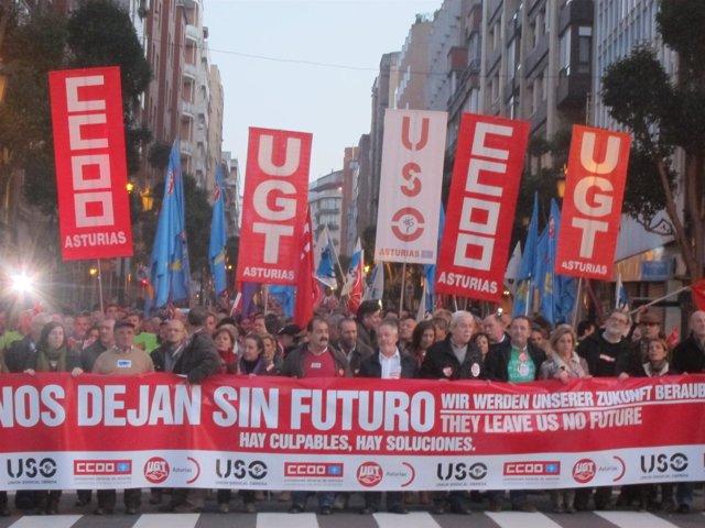 Manifestación huelga general.