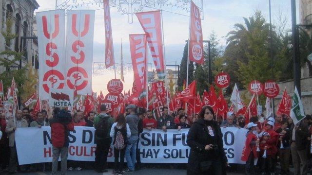 Manifestación de la huelga general en Granada