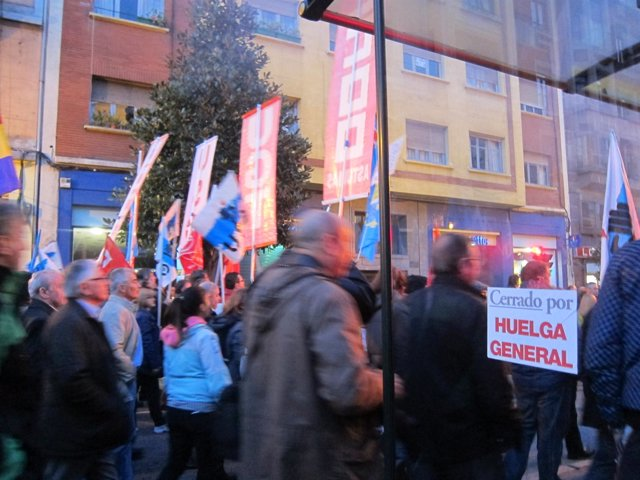 Huelga general en Asturias.