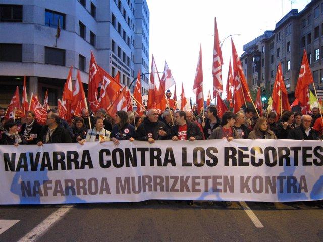 Manifestación central de la huelga general del 14N.