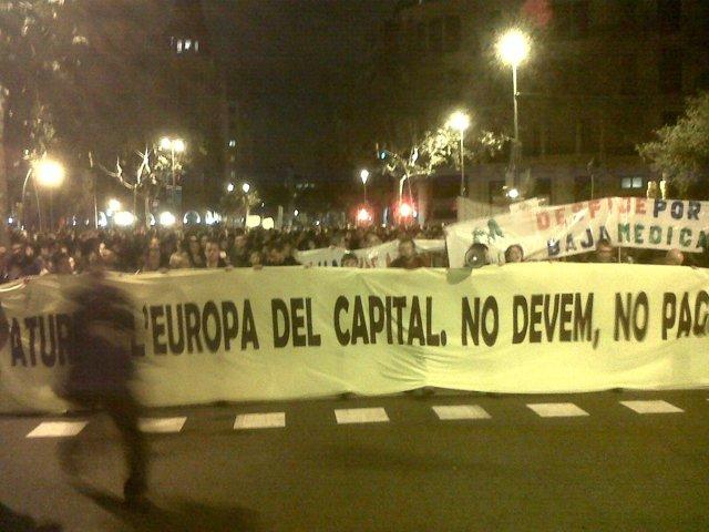 Manifestación alternativa 14N en Barcelona